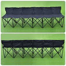 Portable Sports Bench Folding Portable Team Sports Sideline Bench 6 Seater Outdoor