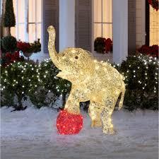 amazon com christmas 3 3 u0027 multicolor shimmering elephant