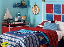 red and blue bedroom nautical bedroom decor bright colors fun decorating ideas for kids