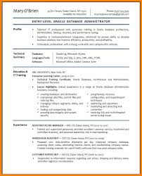 Oracle Experience Resume Sample Dba Resume Sample Eliolera Com