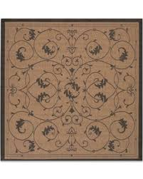 Square Indoor Outdoor Rugs Bargains On Couristan Veranda 7 6 Square Indoor