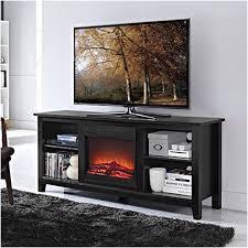 60 Inch Fireplace Tv Stand Black Electric Fireplace Tv Stand Amazon Com Narita Media