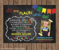 kindergarten graduation invitations dr seuss preschool graduation invitation kindergarten