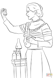 marie curie coloring page free printable coloring pages