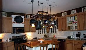 kitchen island pot rack charming hanging pot rack with lights somerefo org