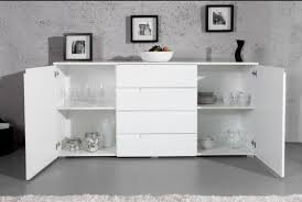 White Gloss Sideboards Large White Gloss Sideboard By Furniturefactor Co Uk