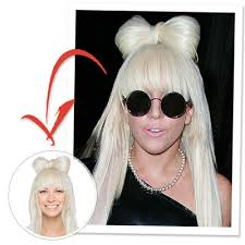 try on lady gaga u0027s bow hair instyle com