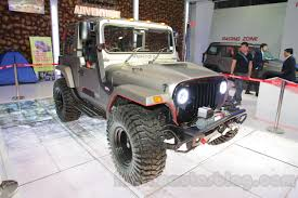 mahindra thar auto expo 2016 modified mahindra thar on display car news