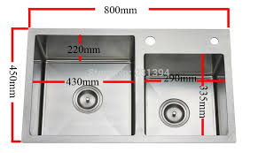 Aliexpresscom  Buy Mm Stainless Steel Undermount - Double drainer kitchen sink