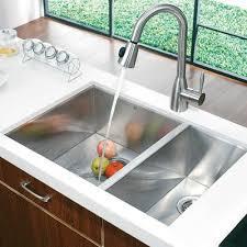 double sinks for kitchens amusing vigo 80 20 double bowl zero radius stainless steel