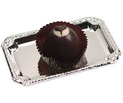 fortune cookie keychain chocolate heart truffle with silver tray hansonellis