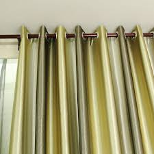 Gold Satin Curtains Smooth Blackout Satin And Fiber Blend Print Living Room Curtains