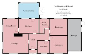 room dimension planner bed detached bungalow for sale in westward road malvern wr14 floor