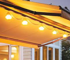 Sunsetter Patio Awning Lights Sunsetter Retractable Awnings Awning Accessories
