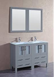 virtu usa um 3067 c gr modern 48 inch double sink bathroom vanity