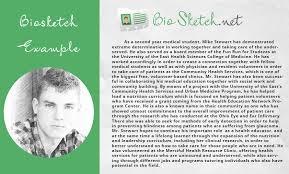 writing biosketch sample easily bio sketch