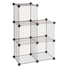 Metal Wire Storage Shelves Wire Cube Shelving System By Safco Saf5279bl Ontimesupplies Com