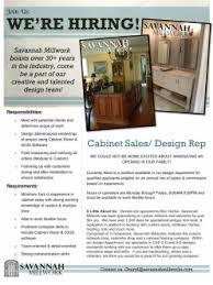 independent cabinet sales rep savannah millwork home