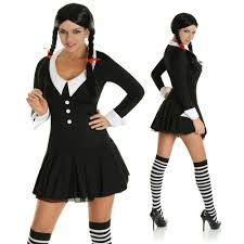 Halloween Costumes Addams Family Wednesday Addams Halloween Costumes