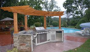 small outdoor kitchens ideas backyard pleasing small backyard outdoor kitchen fantastic small