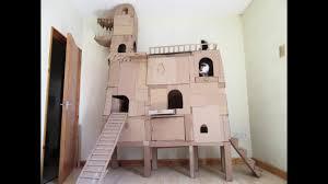 Cardboard Cat Scratcher House Crazy Cardboard Cat Tree Youtube