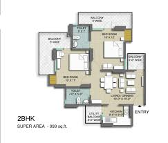 Smart Floor Plan by Skyrise Group Housing Floor Plan 2bhk Dwarka Smart City