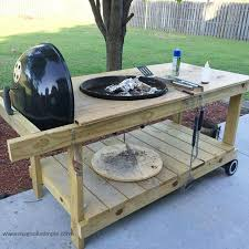 how to build a weber grill table weber grill how to take your weber grill and make it more usable