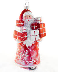 breen mcdonnell claus with packages ornament