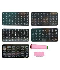 imported nail art stamping kit with 5 image plate gift for woman