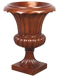 Outdoor Vase Corinthian Tuscany Urn Planter Wood Color Finish Indoor Outdoor