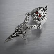 gothic jewelry rings images Free shipping men 39 s jewelry pewter rhinestone gothic jewelry skull jpg