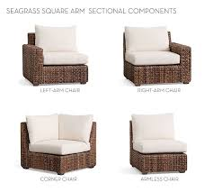 Build Your Own Sectional Sofa by Build Your Own Seagrass Square Arm Sectional Components