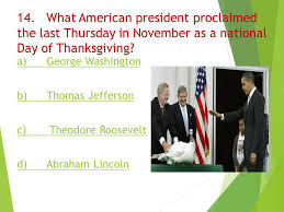 origin of thanksgiving day quiz ppt