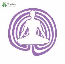 Meditation Home Decor Online Shop Yoga Lotus Pose Vinyl Wall Decal Buddha Asana Symbol