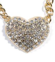 heart rhinestone necklace images Essentials chain rhinestone heart necklace gold ncn34274gd jpg