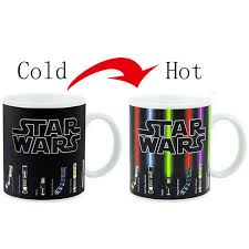 sale wars lightsaber heat reveal mug color change coffee