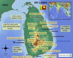 Map Of Sri Lanka Go Active Travel Sri Lanka Map Go Active Tours