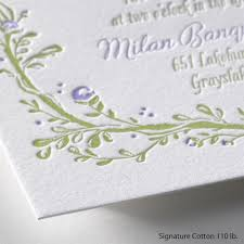 letterpress invitations flowers and vines letterpress invitation invitations by
