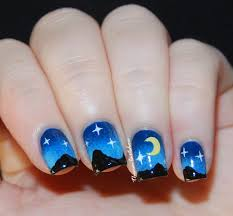 nail art a go go challenge u2013 day 9 night sky the nail art show