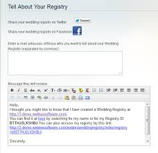 wedding gift registry message wedding gift registry magento extension for bridal honeymoon