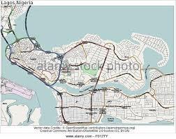 lagos city map lagos city aerial stock photos lagos city aerial stock images