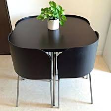 ikea black brown dining table fusion space saving small dining table and chairs black brown ikea