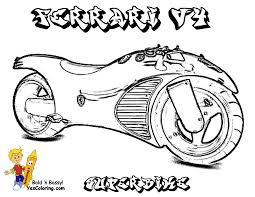 colouring sheet ferrari motorcycle how to draw motorcycles and