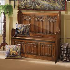 church pews storage bench benches for entryway victorian gothic
