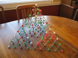 almost unschoolers gumdrop and toothpick sierpinski christmas trees