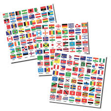 Dominican Republic Flag History Flags Of The World Self Adhesive Labels 3 Sheets With 192 Countries