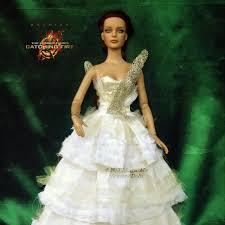 katniss everdeen wedding dress costume catching doll katniss everdeen on the hunt