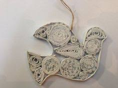 recycled paper ornament by michonys on etsy 6 99