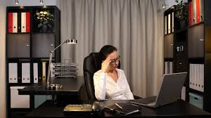disappointed businesswoman talk phone receiving bad sad news