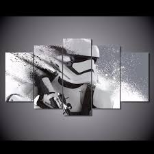 canvas art hd star wars stormtrooper wall art home decor 5 pieces
